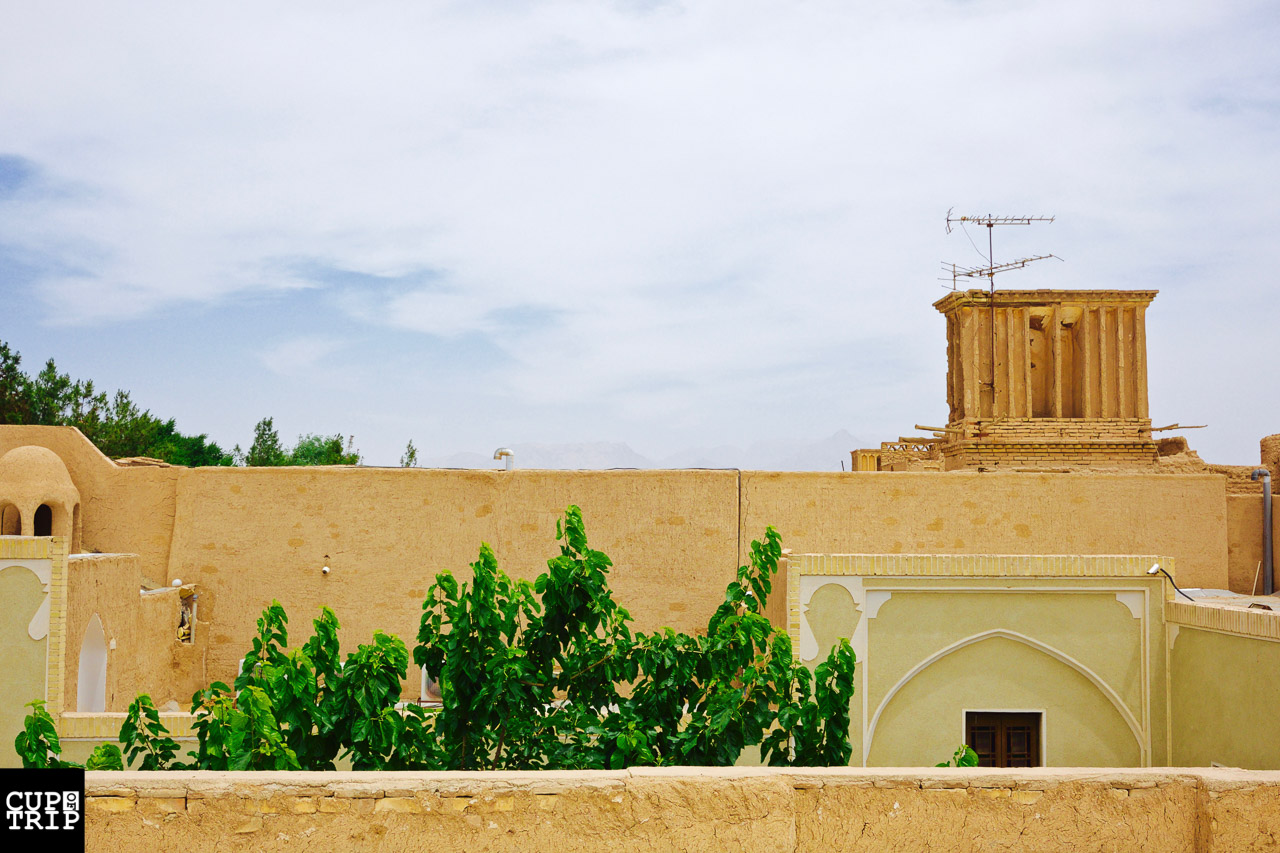 Iran travel Yazd windcatchers
